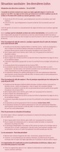 Situation sanitaire-dernières infos du 16 avril